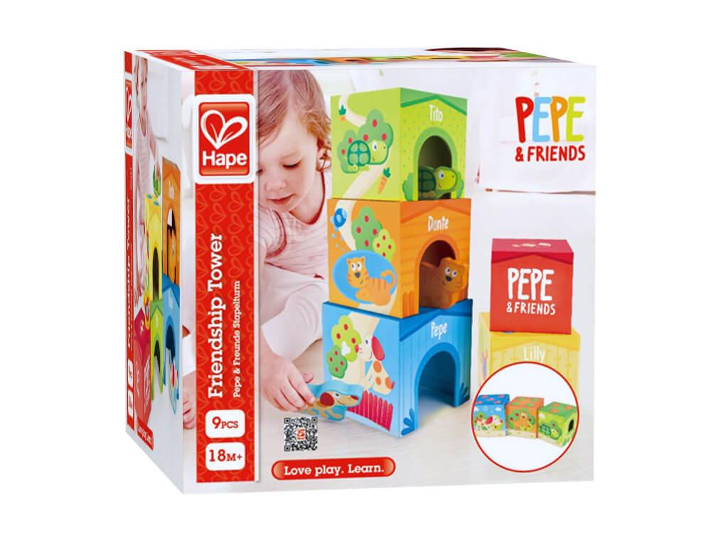 Steckspiele Hape Pepe & Friends Stapelturm