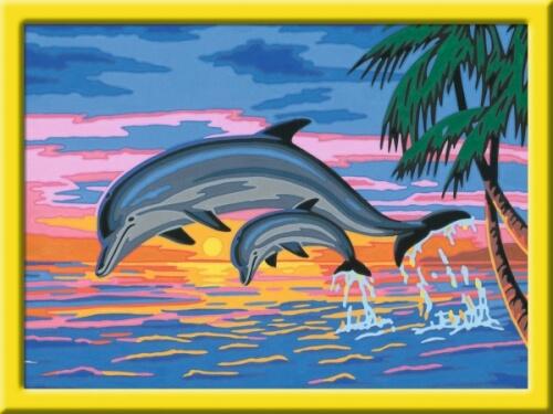 Ravensburger 277902 Malen Nach Zahlen Serie D Paradies Der Delfine