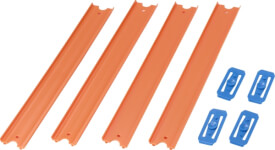 Mattel Hot Wheel Orange Track, 4er-Pack