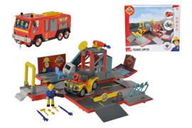 Simba Feuerwehrmann Sam - Feuerwehrauto ''2in1-Jupiter'' inkl. Licht/Sound + Mercury Quad + Figur + Zubehör