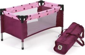 Bayer Chic 2000 - 652 78 Reisebett für Babypuppen, Puppen-Reisebett, Stars Brombeere