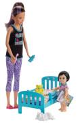 Mattel GHV88 Barbie #Skipper Babysitters Inc.'' Puppen und Bedtime Spielset