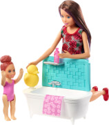 Mattel FXH05 Barbie #Skipper Babysitters Inc.'' Puppen und Bad Spielset