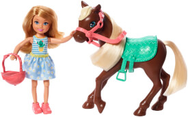 Mattel GHV78 Barbie Chelsea Puppe & Pony (blond)