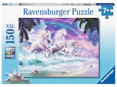 Ravensburger 10057 Puzzle: Einhörner am Strand 150 Teile XXL