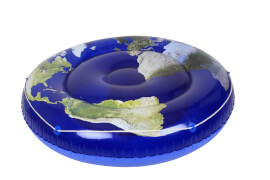 Badeinsel Blue Planet, # ca. 173 cm