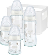 NUK First Choice Flaschen-Set Glas / Silikon
